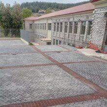 σταμπωτό δάπεδο σχολείο